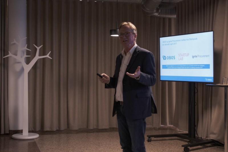 Eiliv Liljevik fra OBOS på plass under lanseringen av Ignite 2.0