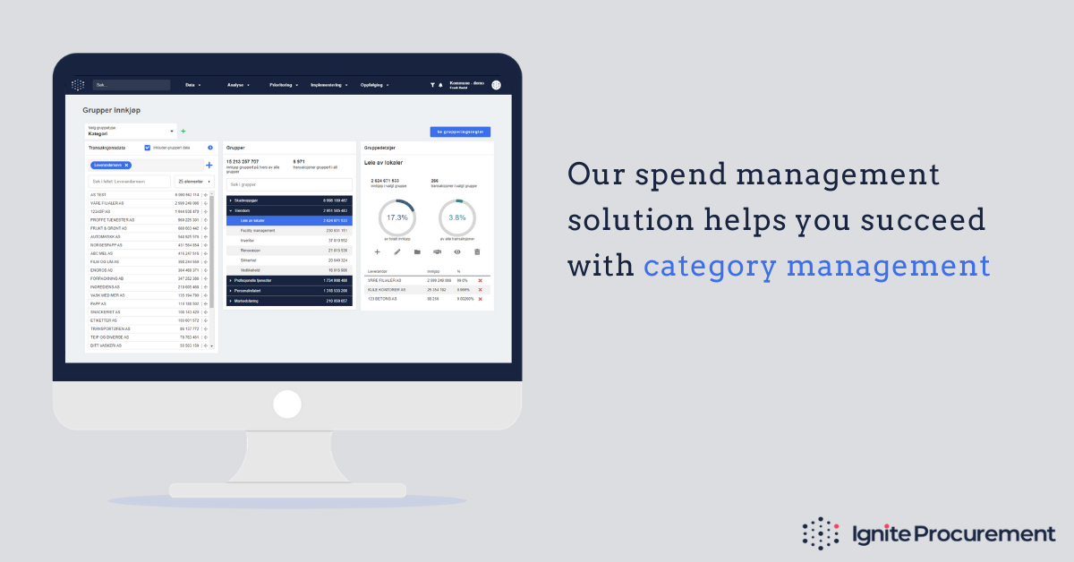 Ignite Procurement helps you succeed with category management