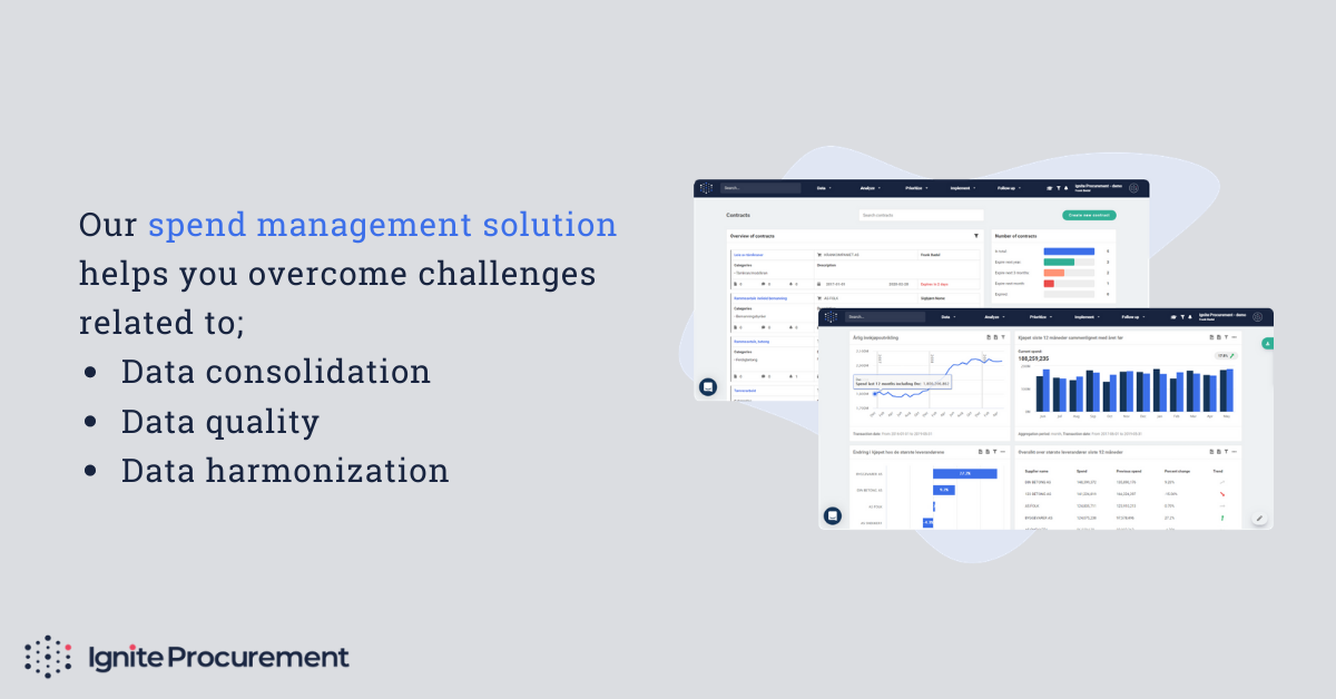 Our spend management solution helps you with data consolidation, data quality and data harmonization