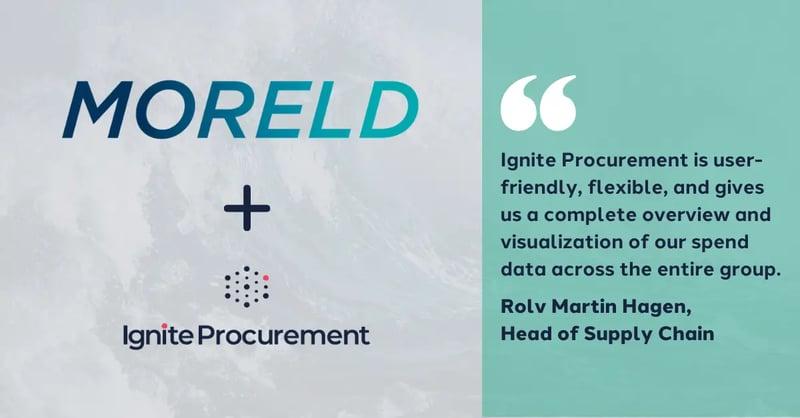 Moreld starts using Ignite Procurement across the group